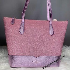 Kate Spade Large Glitter Tote Bag